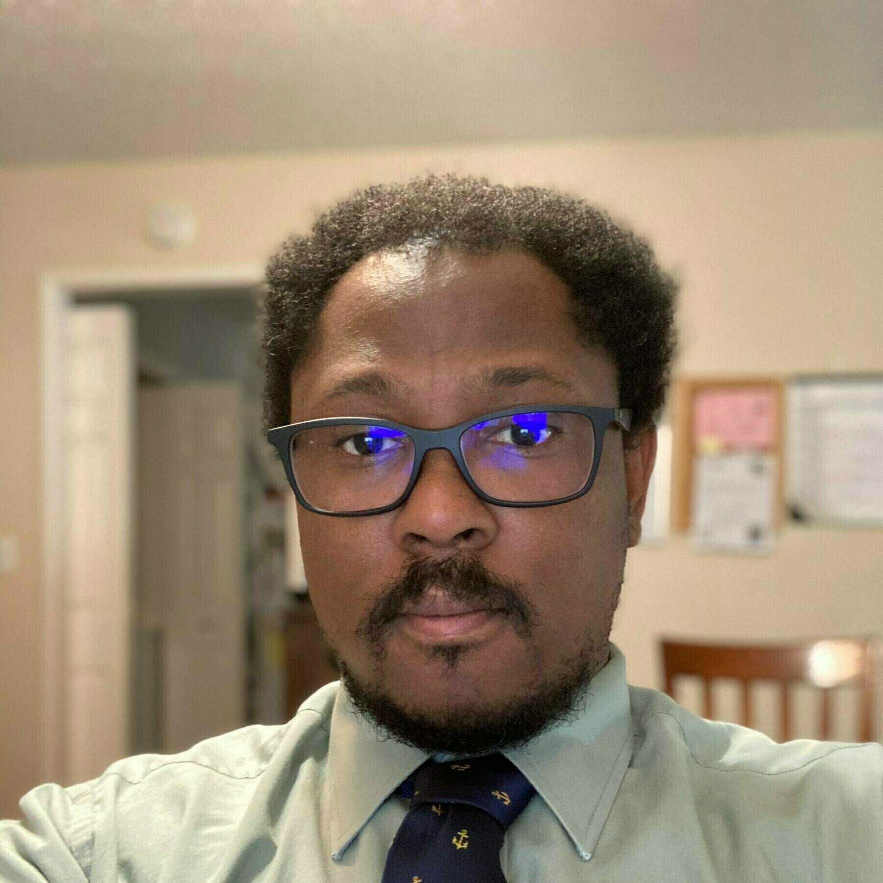 Me wearing a tie.