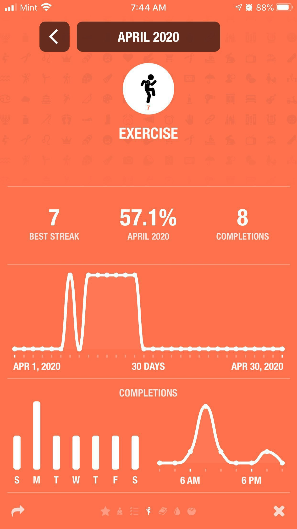 Tracking workouts in streaks.