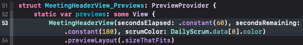 Xcode wrapping a long line