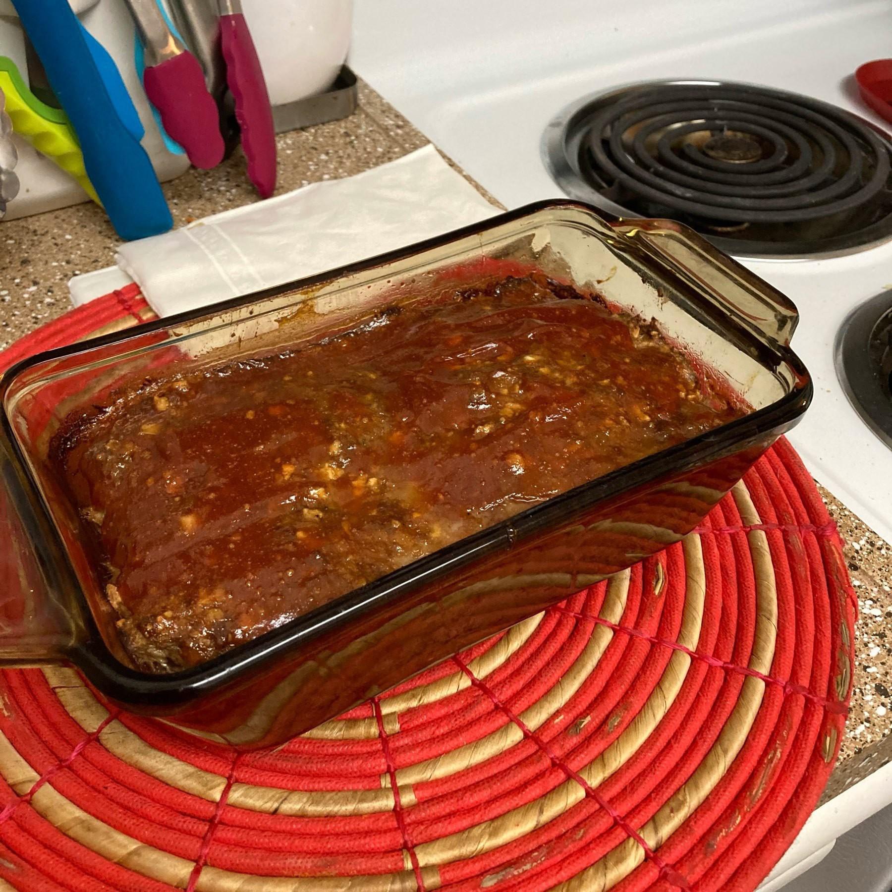 Home made meatloaf.
