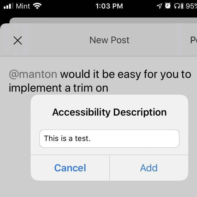 Accessibilty description meta info.