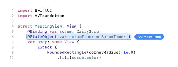 Image of code with source of truth