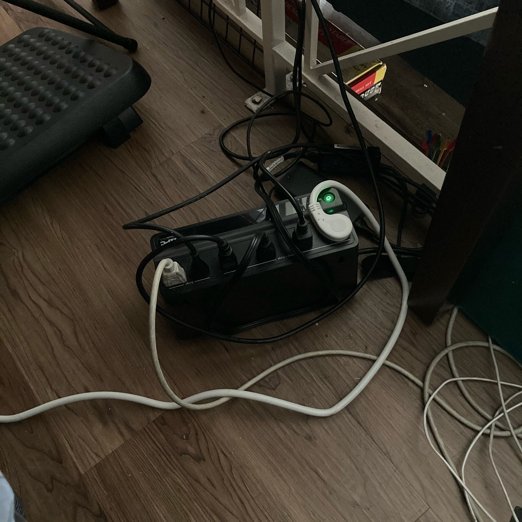 UPS connected to an extention cord.