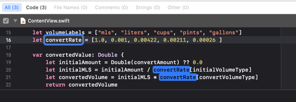 Changing the name of variable