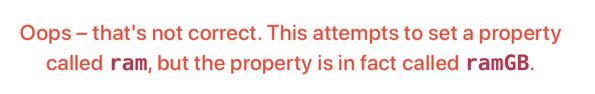 Wrong property name.