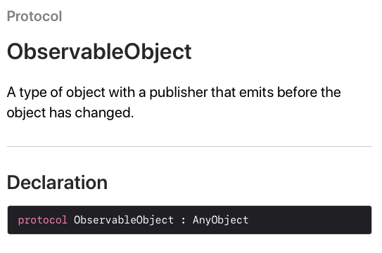Observable Object Protocol