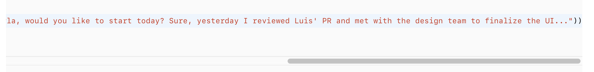 Long string text in xcode