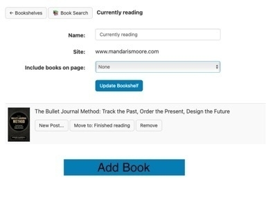 """Mockup of the """"Add Book"""" button."""