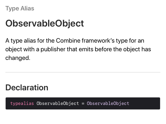 Observable Object documentation