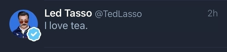Tweet from Ted Lasso.