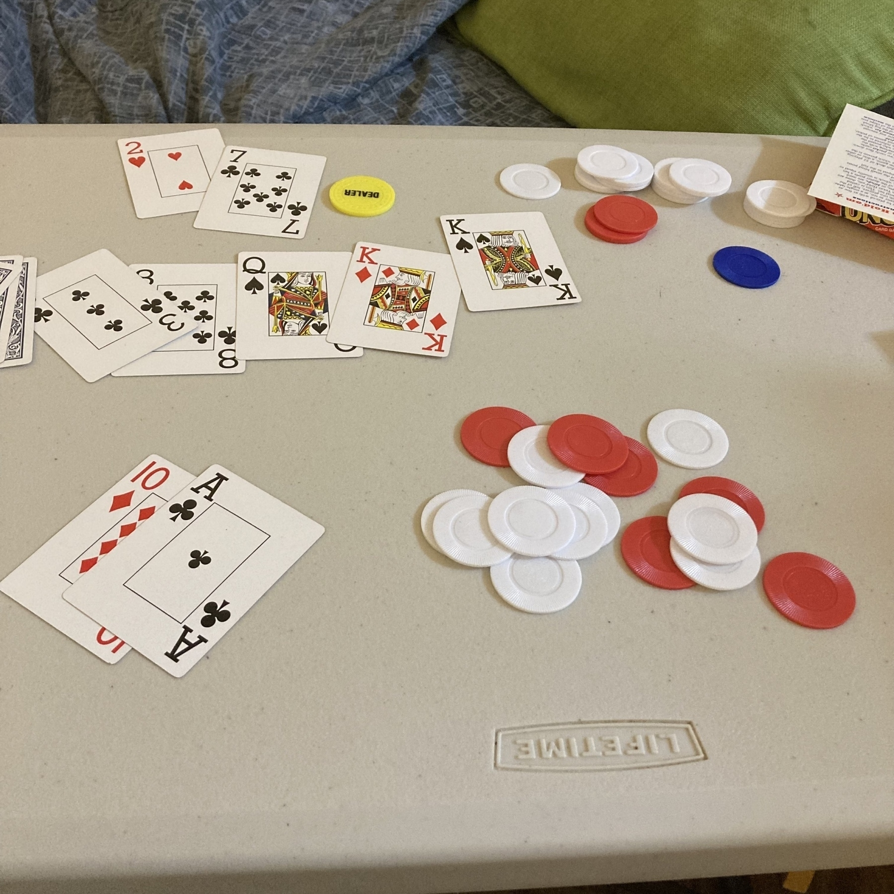 Poker cards and I am losing.
