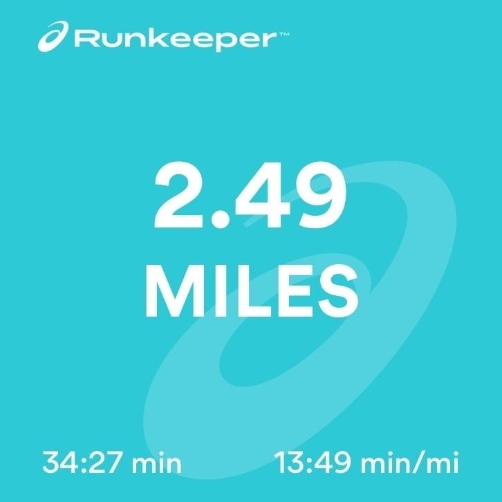 2.49 miles of running