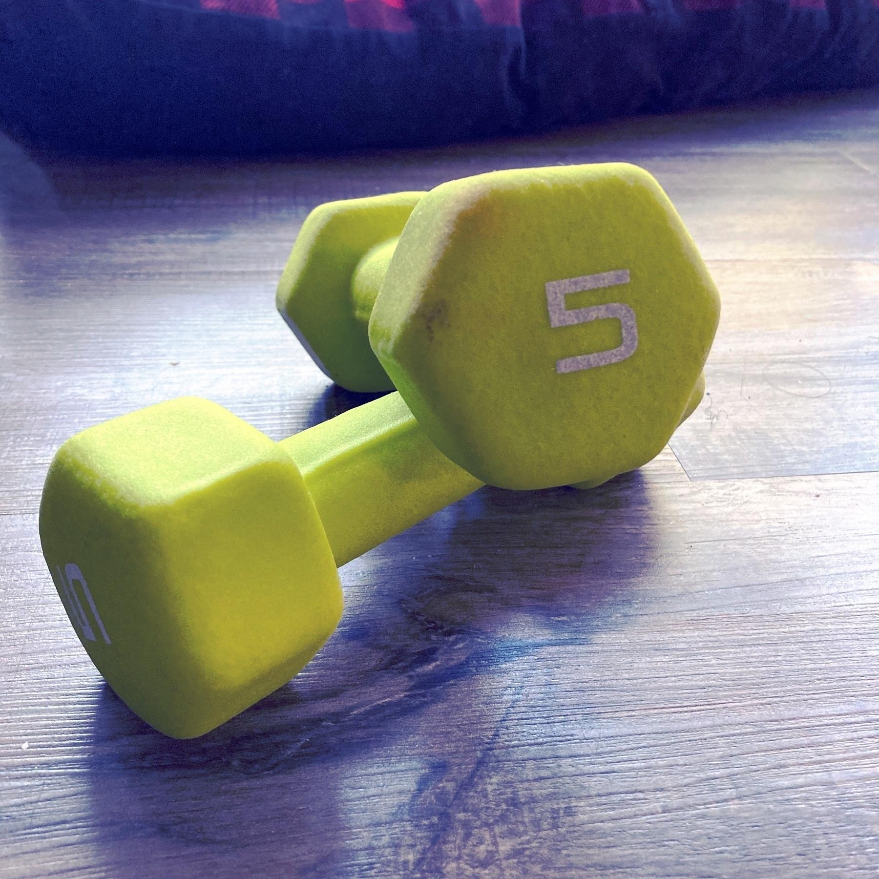 5 pound weights.